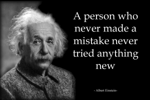 Image result for einstein mistakes quote
