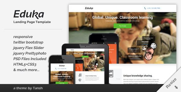 Eduka Landing Page Template