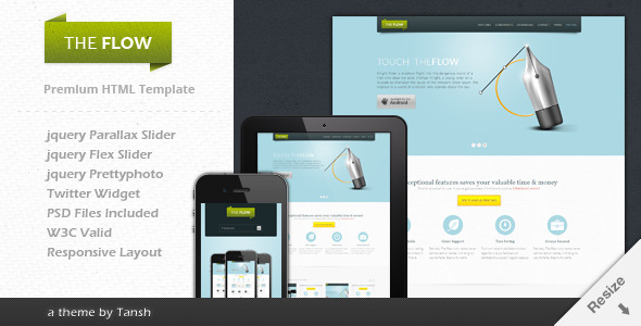 The Flow Landing Page Template
